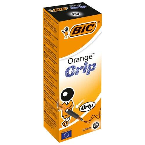 BIC Набор шариковых ручек Orange Grip, 0.8 мм (811926/811925), черный цвет чернил