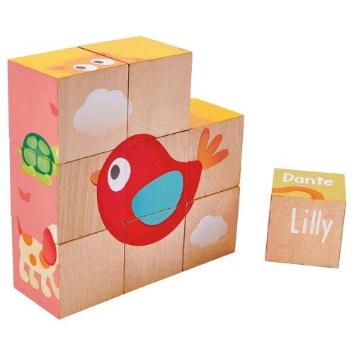Купить Кубики-пазлы Hape Friendship, Детские кубики