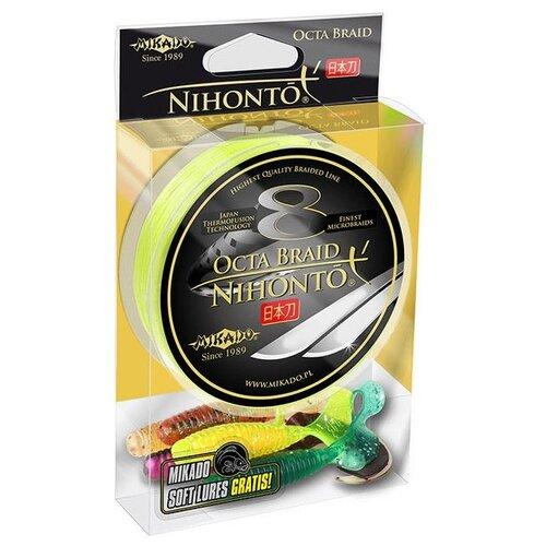 Плетеный шнур MIKADO Nihonto Octa Braid желтый 0.3 мм 150 м 29.9 кг