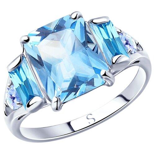 SOKOLOV Кольцо из серебра с фианитами 94012800, размер 19 по цене 2 034