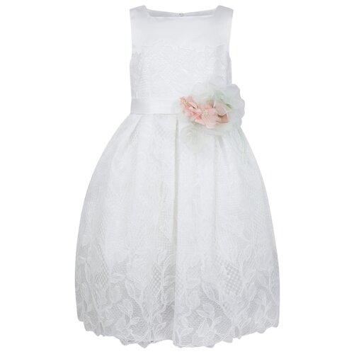 Купить Платье ColoriChiari размер 134, белый, Платья и сарафаны