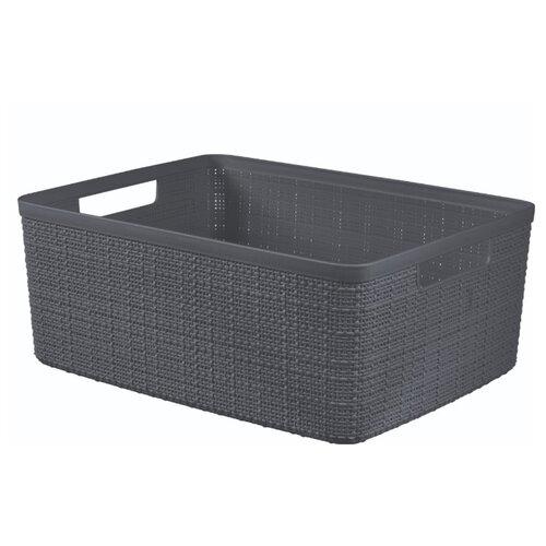 Корзина JUTE M 12л темно-серый корзина для мусора сорренто 12л серый м2055 башкирия