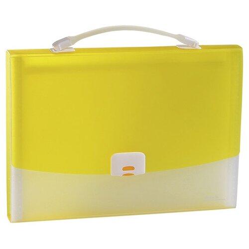 Panta Plast Папка-портфель FOCUS А4, 13 отделений желтый папка портфель без отделений а4 серебряная с черным клапаном