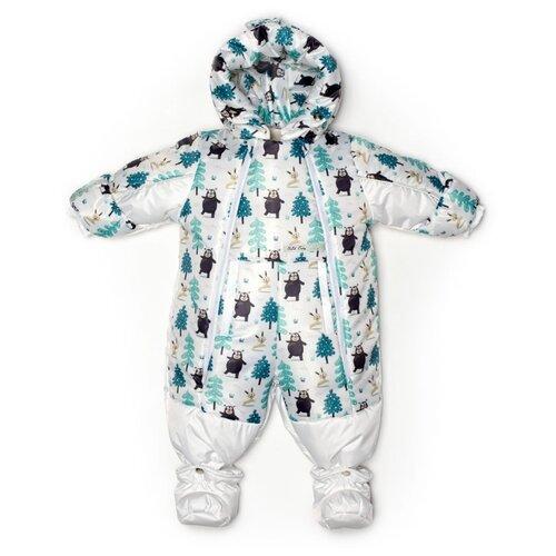 Фото - Комбинезон-трансформер MaLeK BaBy 145шм размер 68, Медведи-елочки+белый комбинезон malek baby malek baby