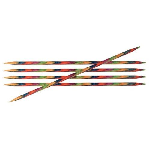 Купить Спицы Knit Pro Symfonie 20112, диаметр 5.5 мм, длина 20 см, красный/синий/желтый
