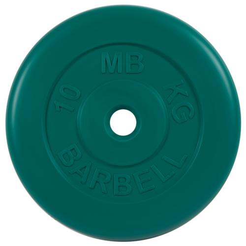 Диск MB Barbell Стандарт MB-PltC26 10 кг зеленый