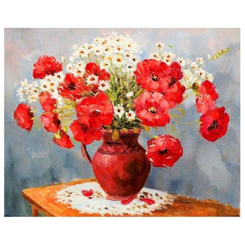Купить ВанГогВоМне Картина по номерам Маки в вазе , 40х50 см (ZX 21647), Картины по номерам и контурам