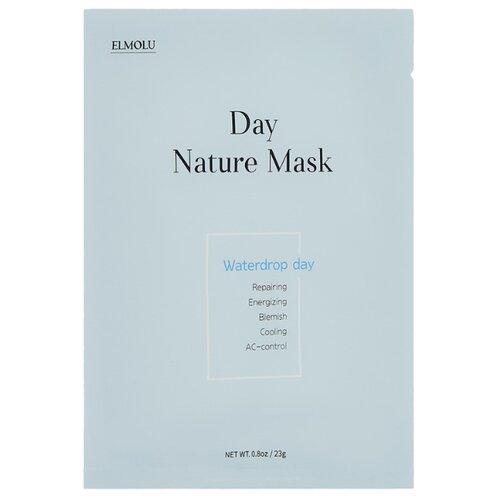 ELMOLU Waterdrop day Day nature mask тканевая увлажняющая маска, 23 г elmolu тканевая маска наполняющая энергией day nature mask energizing day 23 г 7 шт