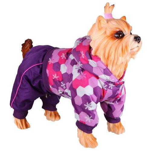 Комбинезон для собак DEZZIE 56355 девочка, 35 см фиолетовый / розовый