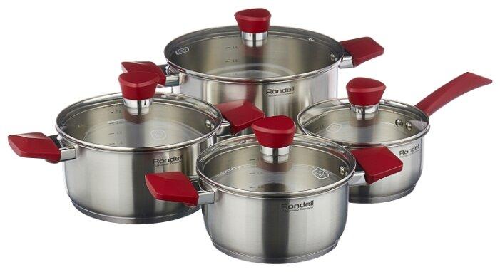 Набор посуды Rondell Strike RDS-818 8 пр. стальной