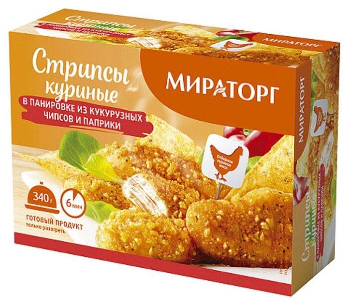 Мираторг Замороженные стрипсы куриные в панировке из кукурузных чипсов и паприки 340 г