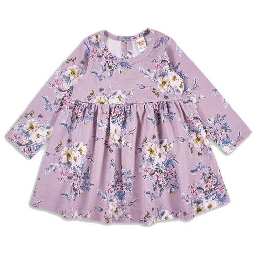 Платье Веселый Малыш размер 92, лиловый