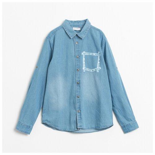 цена на Рубашка COCCODRILLO размер 152, голубой