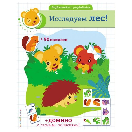 Фото - Книжка с наклейками Исследуем лес книжка с наклейками лес
