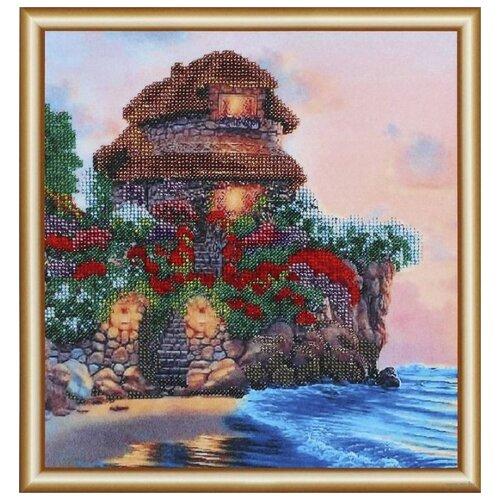 Купить Hobby & Pro Набор для вышивания бисером Цветочный мыс 25 х 26 см (БН-3130), Наборы для вышивания