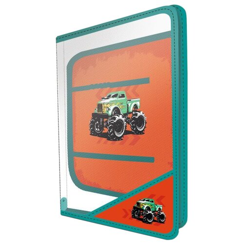 Феникс+ Папка для уроков труда Монстр-трак А4 (48151) зеленый/оранжевый феникс пенал косметичка монстр трак 46252 коричневый