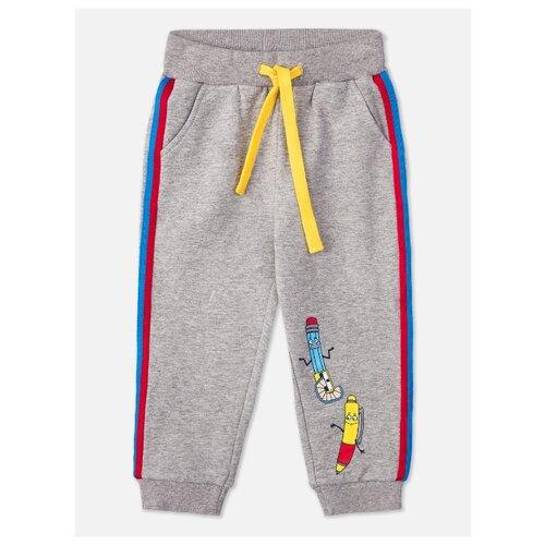 Брюки playToday размер 86, серый playtoday брюки playtoday для мальчика