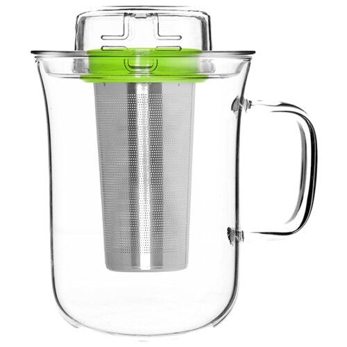 qdo QDO Кружка Me Cup 400 мл прозрачный/зеленый