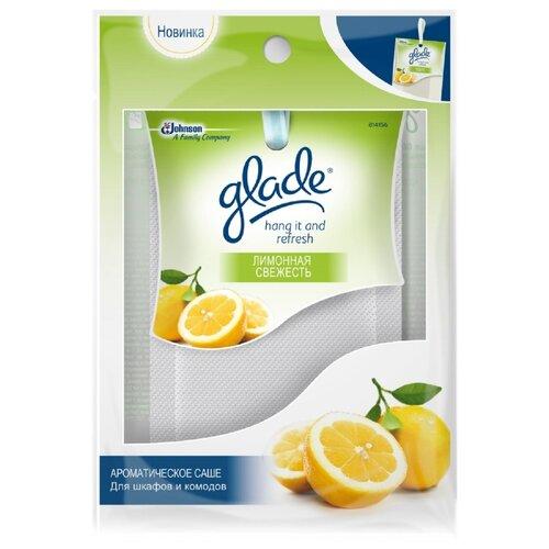 Glade Саше Hang it and Refresh Лимонная свежесть, 8г chirton саше лимонная свежесть 15 гр