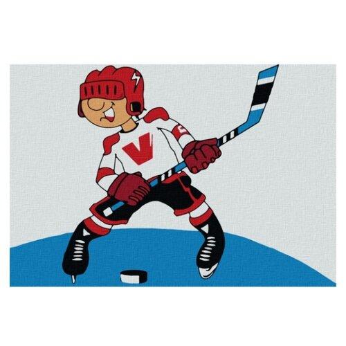 Купить Котеин Картина по номерам Хоккеист 20х30 см (KHM0002), Картины по номерам и контурам