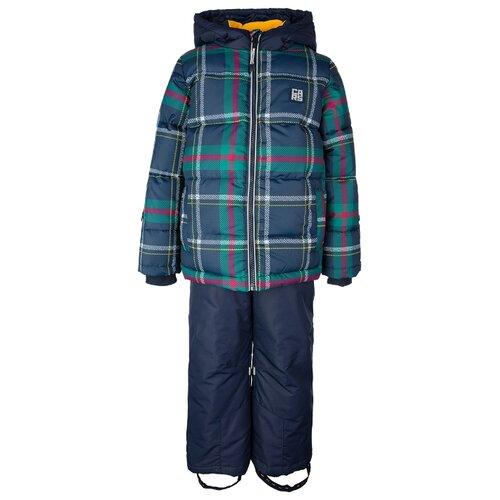 Купить Комплект с полукомбинезоном playToday 32012002 размер 116, темно-синий, Комплекты верхней одежды