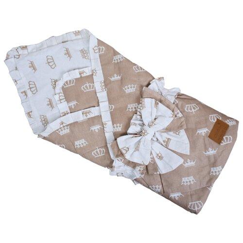 Купить Одеяло на выписку AmaroBaby HAPPY (Короны коричневый), Конверты и спальные мешки