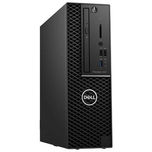 Рабочая станция DELL Precision 3431 (3431-7980) Slim-Desktop/Intel Core i7-9700/8 ГБ/256 ГБ SSD/Intel UHD Graphics 630/Windows 10 Pro черный precision t3640 mt intel core i7 10700k 3 8ghz 16gb ssd 512gb dvdrw int intel uhd graphics 630 war 3y 8 39kg black w10pro sd tpm