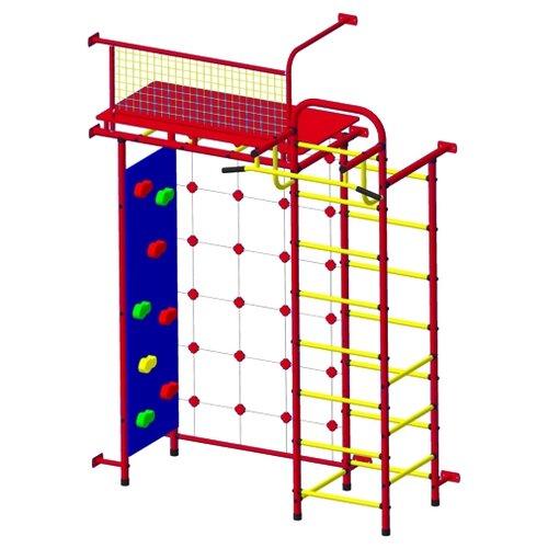 Купить Спортивно-игровой комплекс Пионер 10СМ со скалодромом красный/желтый, Игровые и спортивные комплексы и горки