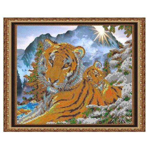 Светлица Набор для вышивания бисером Тигры 30 х 24 см, бисер Чехия (465)