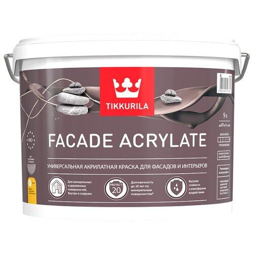 Краска Tikkurila Facade Acrylate матовая 9 л 1 (A/BW) краска интерьерная tikkurila joker a 9 л