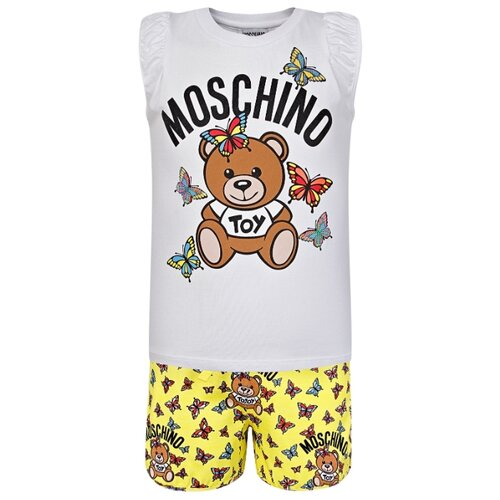 Комплект одежды MOSCHINO размер 116, белый/желтый