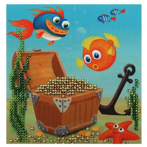 Купить Бисеринка Набор для вышивания бисером Сокровища 12 х 12 см (Б-0205), Наборы для вышивания