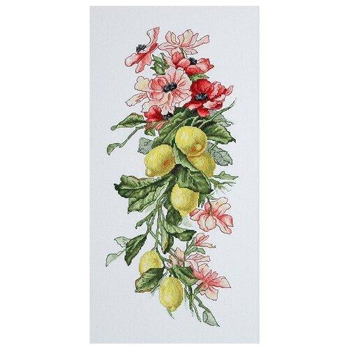 Luca-S Набор для вышивания Композиция с лимонами 17 х 39 см (B210) anchor набор для вышивания композиция с анемонами 18 х 47 см pce733