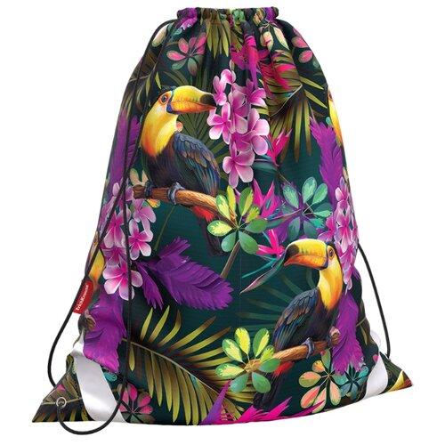 Купить ErichKrause Мешок для обуви Tropics (49142) фиолетовый/зеленый/желтый, Мешки для обуви и формы