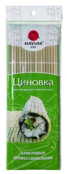 Коврик для скручивания MAYUMI бамбуковый профессиональный