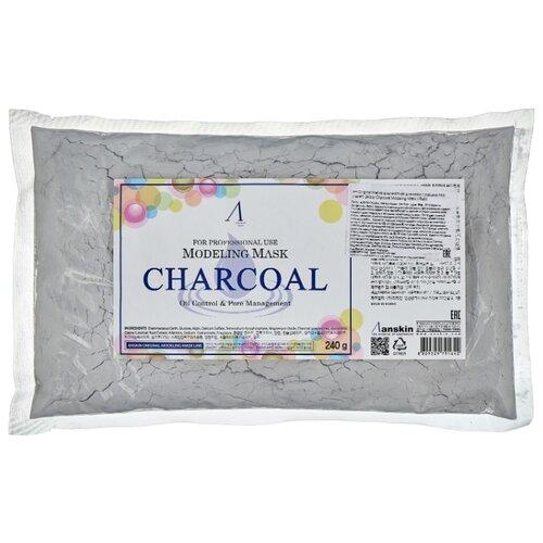 Anskin маска альгинатная Charcoal для жирной кожи с расширенными порами, 240 г альгинатная маска charcoal