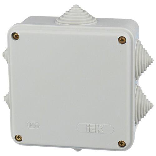 Распределительная коробка IEK KM41234 наружный монтаж 100x100 мм серый RAL 7035