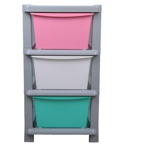 Комод Доляна Модуль 3 секции 4126785 , размер: 42х52 см , цвет: разноцветный