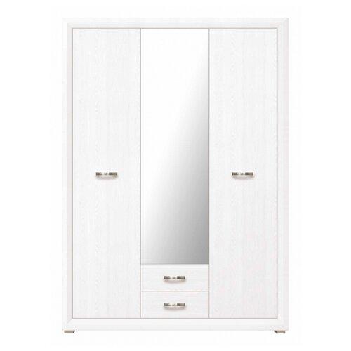 Шкаф для спальни Black Red White Мальта B136-SZF3D2S, (ШхГхВ): 151.5х60.5х211.5 см, лиственница сибирская/орех лион комод black red white мальта