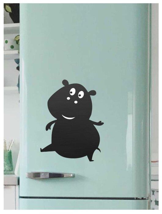Доска на холодильник меловая Doski4you Бегемотик 2 (40х30 см)