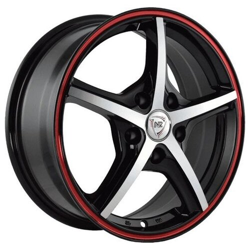 Фото - Колесный диск NZ Wheels SH667 6.5x16/5x114.3 D60.1 ET45 BKFRS колесный диск nz wheels sh667 7x17 5x110 d65 1 et39 bkfrs