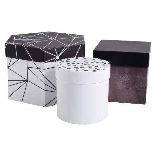 Фото - Набор подарочных коробок Дарите счастье ЧБ, 3 шт. белый/черный набор подарочных коробок дарите счастье универсальный 10 шт бежевый белый черный