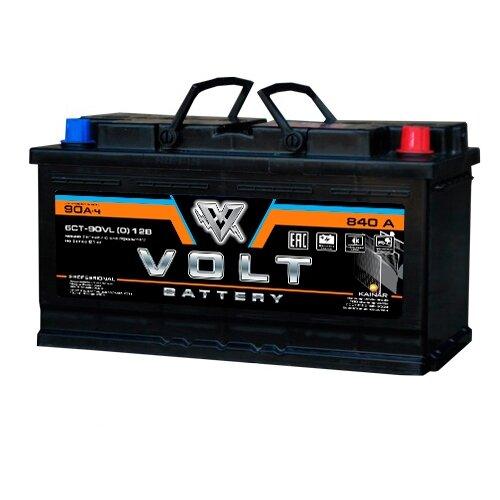 Автомобильный аккумулятор VOLT PROFESSIONAL 6СТ-90.0 обратная полярность ёмкость 90 Ач