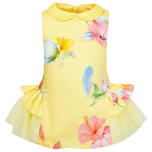 Платье Lapin House размер 74, желтый