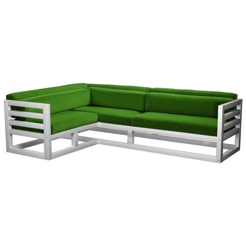 Угловой диван AnderSon Магнус угол: слева, размер: 250х170 см, обивка: ткань, белый/зеленый диван угловой диван магнус магнус