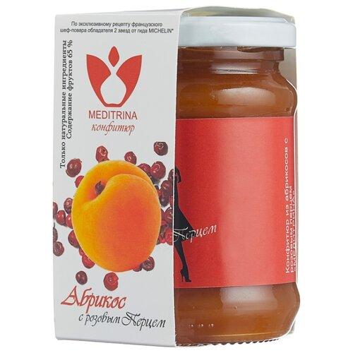 Конфитюр MEDITRINA из абрикосов с розовым перцем, банка 300 г