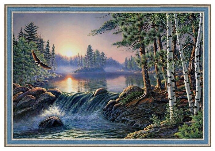 Алмазная живопись Набор алмазной вышивки Над быстрой рекой (АЖ-1500) 60х40 см