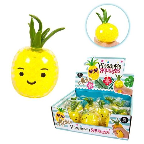 Игрушка-мялка Junfa toys Pineapple squeeze (1809-SQ099A) желтый