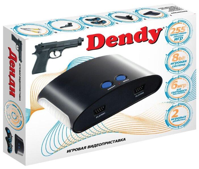 Игровая приставка Dendy 255 встроенных игр + световой пистолет