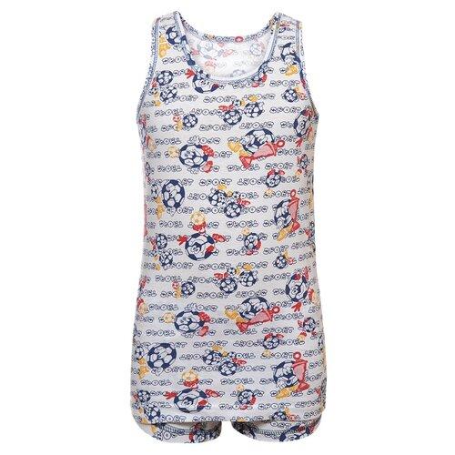 Купить Комплект нижнего белья M&D размер 116, белый/темно-синий, Белье и пляжная мода